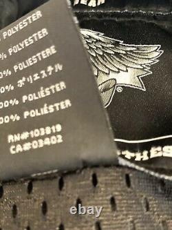 Homme Harley Davidson Mesh Veste D'équitation Reflective Bar & Shield Gris XXXL 3x