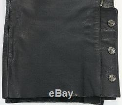 Hommes Chaps En Cuir Harley Davidson Bar Bouclier XL Noir Stock 98090-06vm Non Coupées