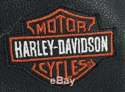 Hommes Chaps En Cuir Harley Davidson Bouclier L Stock Bar 98090-06vm Noir Boutons-pression