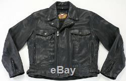 Hommes Harley Veste En Cuir Davidson M Noir Nevada 98122-98vm Bar Revêtement De Protection