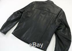 Hommes Veste En Cuir Harley Davidson L Stock 98112-06vm Bouclier Barre Noire Zip