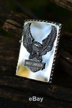 Japonais Harley Davidson Zippo Japon D'eagle Bar Et Le Bouclier Hdp-22