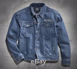 Jeans Jacke Harley-davidson Bar & Shield Denim Herren Blau Gr. L