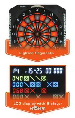 Jeu De Fléchettes Électronique Flaming Harley-davidson Bar & Shield, 18 X 24 Pouces 61969