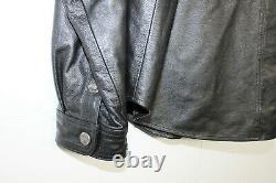 Manteau Chemise En Cuir Harley Davidson XL Noir Pour Homme Shield Shield Snap 98111-98vm