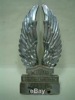 Médaillon De Sissy Bar Old Harley Bar & Shield Eagle Chromé Shovelhead Eps16540