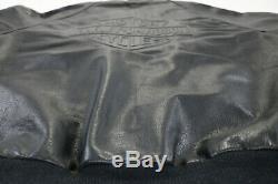 Mens Harley Bombardier En Cuir Veste Davidson 2xl XXL Bouclier Bar Noir En Relief