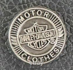 Mens Harley Davidson Leather Chaps 2xl Black Stock 98090-06vm Bar Shield Snaps