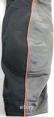 Mens Harley Davidson Maillage Veste L Gris Orange Noir Bouclier De Barre D'armure Réfléchissante