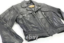 Mens Harley Davidson Veste En Cuir L Noir Nevada 98122-98vm Bar Shield Liner