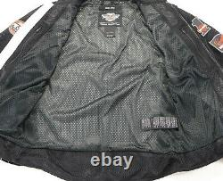 Mens Harley Davidson Veste En Maille M Bar Shield Orange Noir Poches D'armure Gris