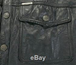 Mens Harley Veste Chemise En Cuir Davidson L Bouclier XL Bar Noir Accrochage 98111-98vm