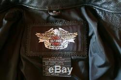 Mintharley Davidson Bar Noir Et Bouclier Veste Moto Cuir 1w Femmes