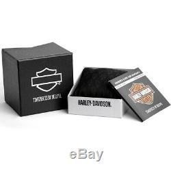 Montre Harley-davidson Mens Bar & Shield Montre En Acier Inoxydable 76a162