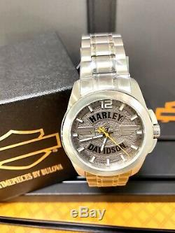 Montre Homme Mens Harley-davidson Wing Bar & Shield Two Tone Montre 76a157