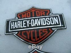 Nos Harley Davidson New Bar & Shield Réservoir De Gaz Medallion Badges Emblèmes Fxr