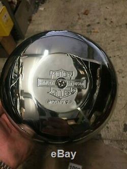 Nos Harley Nostalgic Round 8 Cache Barre De Protection D'air De Filtre À Air Chrome Logo Nos