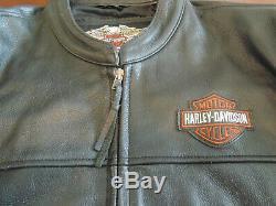Nouveau Bar Harley Davidson Hommes Et Bouclier D'équitation En Cuir Veste Grande Taille