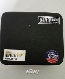 Nouveau Bracelet En Cuir Harley-davidson Stamper Avec Barre De Titane Et Le Bouclier, # 110