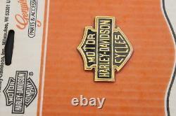 Nouveau Médaillon Nos Harley Davidson Bar & Shield 91816-85 Fxr Dyna Sportster Flt