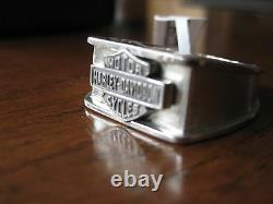 Nwt Hommes Harley-davidson Silver Ring Taille 15 Jewelry Bar & Shield Signet