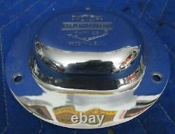 Oem 3 Hole Bar & Shield Derby Couverture Harley Heritage Springer Evo Softail Flests