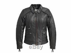 Patrimoine Tressé Bar Harley Davidson Women & Shield Veste En Cuir XL 98064-13vw
