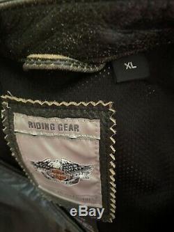 Prestige Bar Harley Davidson Women & Black Shield Veste En Cuir XL 97012-06vw