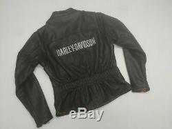 Pristeen Cuir Moto Véritable Harley Davidson Jacket Bar And Shield Petit