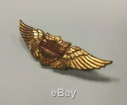 Rare 30s Vintage Or Harley Davidson Ailes Pin Bar Bouclier Crest Chapeau De Moto