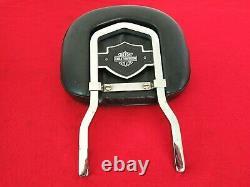 Rare Authentique 82-03 Harley Fxr Bar & Shield Backrest Upright Sportster Dyna Sissy