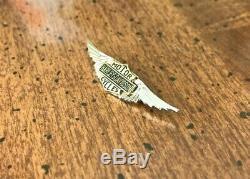 Rare Vintage 20s- 50s Argent Ailes Harley Davidson Pin Bar Shield Motorcycle USA