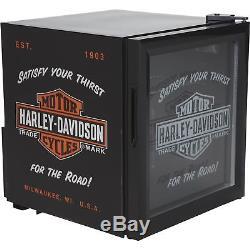 Réfrigérateur Mini Refroidisseur De Sodas Nostalgic Bar & Shield De Harley-davidson - Noir