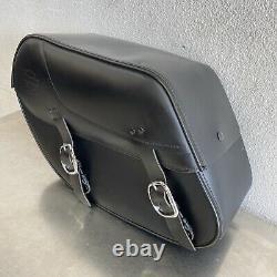 Sacs En Cuir Harley Dyna Bar & Shield S'adapte 2002 2017 90369-06d J59