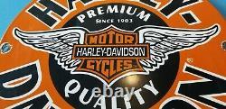 Signe Vintage De Barre De Bouclier De Barre De Bouclier De Barre De Gaz De Harley Davidson De Moto De Moto