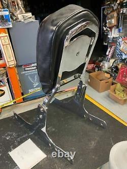 Sissybar Harley Dyna Superglide Low Rider Oem Bar Shield Pad 1991-2005 Chrome
