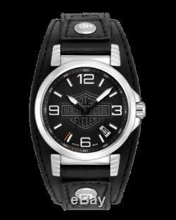 Tout Neuf Montre Homme Ghost Harley-davidson Men Bar & Shield Black Watch 76b163