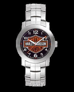 Tout Nouveau Bulova Homme Harley-davidson Bar & Shield Wrist Silver Watch 76a019