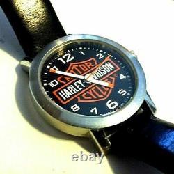 Toute Nouvelle Montre Noire Harley-davidson Bar & Shield Pour Femmes Bulova 76l10