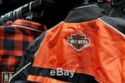 Vente! Harley-davidson Casual Jacket Men, Moto Tour Bar & Shield, Noir 985