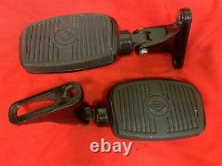 Véritable Harley Touring Black Bar Shield Passager Mini Footboards Short Mounts