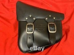 Véritable Harley-davidson Bar & Shield Side Saddle Bag Pouch Noir