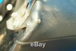 Véritable Mustang Harley Fxwg Roi Reine Seat Avec Bar & Shield Sissy Bar 80-86