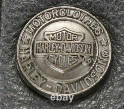 Veste Chemise En Cuir Harley Davidson Homme XL Bouclier De Barre Noire Snap 98111-98vm
