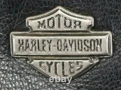 Veste En Cuir Harley Davidson L Shifter Noir Embossé Bar Bouclier Zip Évents