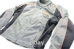 Veste En Maille Harley Davidson Homme L Bouclier De Barre Gris Orange Armure Réfléchissante Noire