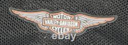 Veste En Maille Harley Davidson Homme XL Bar Shield Gris Orange Noir Zip Léger