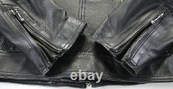 Veste Noire Classique M Armure Bouclier Barre 98153-09vw Zip En Cuir Harley Davidson