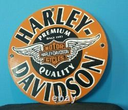 Vieille Harley Davidson Moto Porcelaine Gaz Bike Bar Shield Ailes Panneau