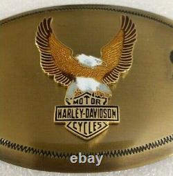 Vintage Années 1970 Harley Davidson Upwing Screaming Eagle Bar & Shield Belt Buckle